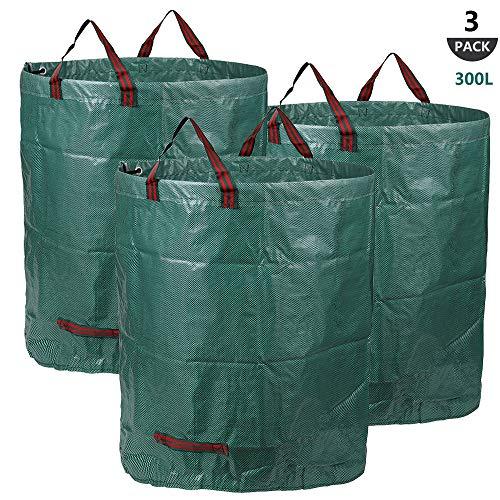 3x 300L Sacchi da giardinaggio PROFESSIONAL - Sacchi per rifiuti da giardino - Polipropilene (PP) -...