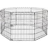 Amazonベーシック ペット 犬用 エクササイズフェンス プレイサークル 折りたたみ可能 金属製 152 x 152 x 76cm
