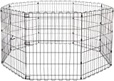 Amazon Basics Foldable Metal Pet Dog Exercise Fence Pen - 60 x 60 x 30 Inches