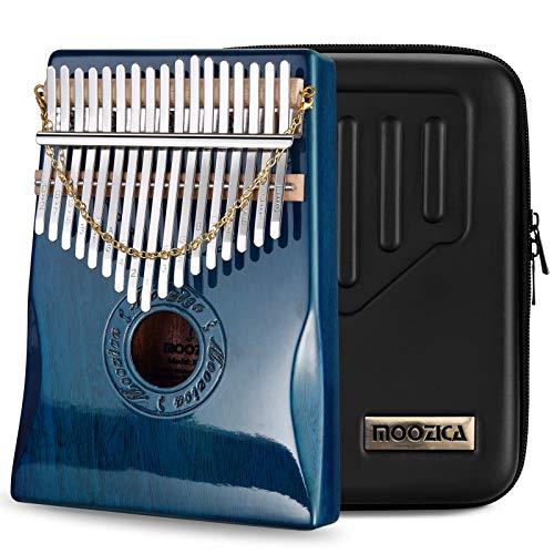 Moozica 17 Schlüssel Kalimba Marimba, High Qualität Professionelle Finger Daumen Piano Musikinstrument Geschenk (Mahagon Holz-K17BP)