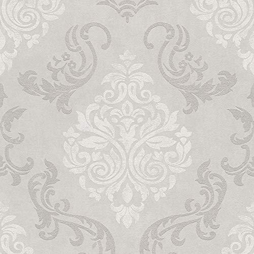 Vliestapete Barock-Tapete Ornament-Tapete 953721 95372-1 Innova Memory 3 | Beige/Crème Silber | Rolle (10,05 x 0,53 m) = 5,33 m²