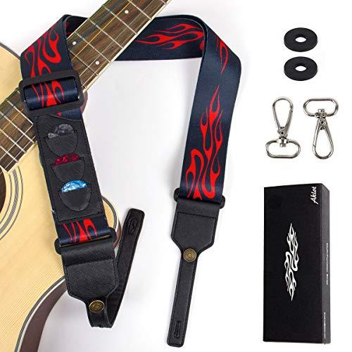 Chitarra Tracolla Con 3 Plettri Chiusura Con Cinturino 2 Ganci per Acoustic Folk Classica Elettrica Ukulele Banjo By AKTOL