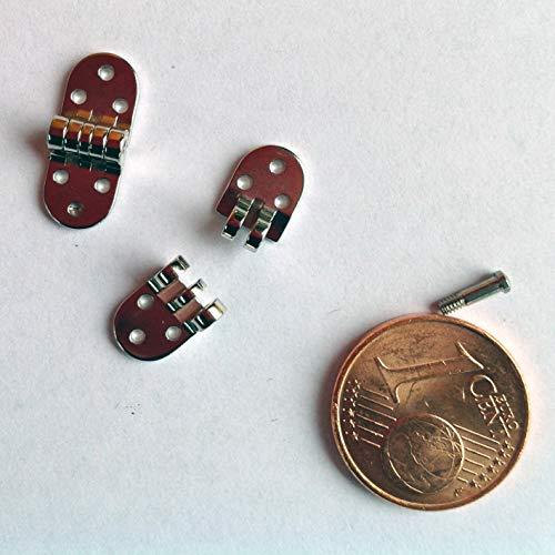 miniScharniere, 1 Paar Brillenscharniere Nietscharniere, 6mm