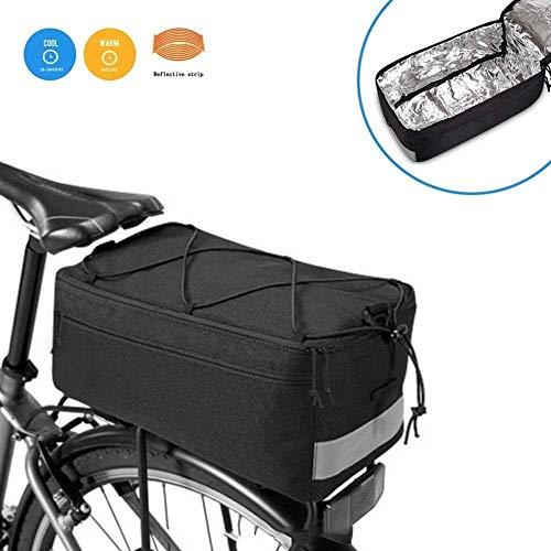 JNWEIYU Fahrrad-Kühltasche, Gepäckträger Protect Kühler und Kühltasche mit Seitenstrahlern Reißverschlusstaschen und Flaschenkasten Fahrradtasche