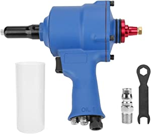 1 4 quot  Pneumatic Riveter  KP-705X Pneumatic Riveter Pistol Grip Rivet Gun Air Powered Riveting Tool 2 4-4 8mm for Aluminum Iron Stainless Steel Nails