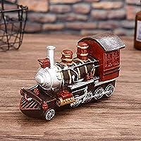 Mei-YY 工芸品 ジュエリーアートクラフト像レトロな蒸気機関車モデル樹脂デスクトップ彫刻ホームアクセサリー 装飾品