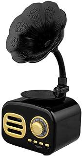 CHUXJ Vintage Retro Speaker Gramophone Bluetooth Record Player Turnable Radio Stereo Sound Box Mini Wireless Speaker, TF C... photo