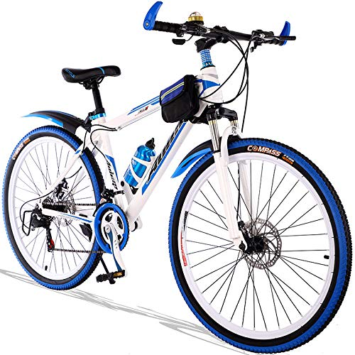 LINGS Foldable Bicycle Kids' Bikes 24-Speed 20-inch Bicycle Mountain Bike Gear Shift Male and Female Adult Student Child 8-15 Years Old Teen Racing Off-Road Vehicle