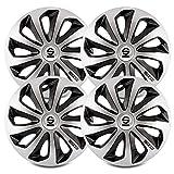 Sparco SPC1373SVBK Sicilia Wheel Covers, Silver/Black, Set of 4, 13'