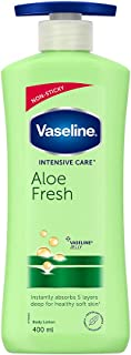 Vaseline Intensive Care Aloe Fresh Body Lotion, with Aloe Extract, Non Greasy, Non Sticky Formula For Hand & Body for Norm...