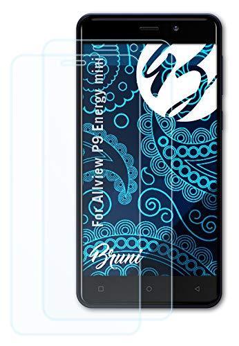 Bruni Schutzfolie kompatibel mit Allview P9 Energy Mini Folie, glasklare Bildschirmschutzfolie (2X)