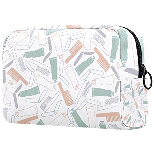 ATOMO Bolsa de maquillaje, cosmética de moda bolsa de viaje grande neceser organizador de maquillaje para mujeres, productos de higiene personal
