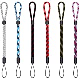 Adjustable Wrist Lanyard Hand Strap, Mini Wristlet 9.5' for Phone Camera Flashlight USB Flash Drive Key Remote Controller Small Devices 6 pcs Assorted Color