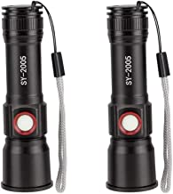 Portable Multifunctional USB Rechargeable Flashlight, LED, Outdoor, Waterproof, Long-Range, Flashlight Telescopic Focus (2...