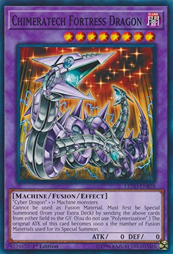 yu-gi-oh Chimeratech Fortress Dragon - LEDD-ENB28 - Common - 1st Edition - Legendary Dragon Decks (1st Edition)
