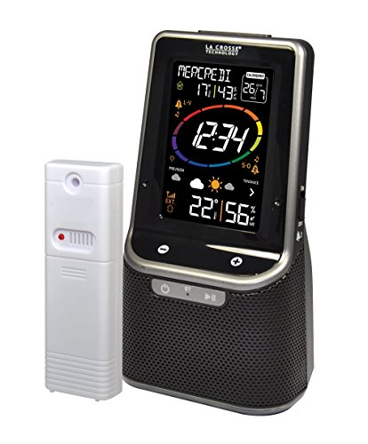 La Crosse Technology ws6890bla-sil estación metereológica colorée con Bluetooth Negro
