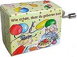 Mini-Drehorgel-Rolf Zuckowski mit Resonanzboden(Wie schön dass du geboren bist) -