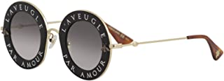 Sunglasses Gucci GG 0113 S- 001 BLACK / GREY GOLD