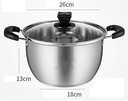 AA-kitchen Marmite de Cuisine marmite INOX épaissie binaural Casserole Bouillie   Style 5