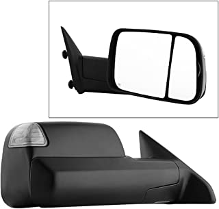 Brock Drivers Manual Tow Side View Mirror Replacement for 13-18 Ram Pickup Truck 19 1500 Classic Left Flip Up Textured w//Temperature Sensor repairs 68412769AB