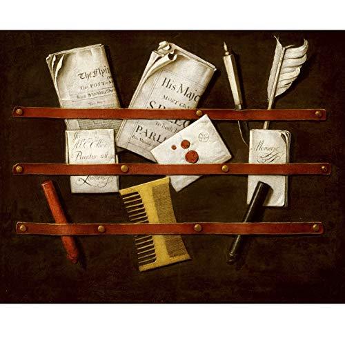 Bellas Arte Pintura al óleo Puzzle Carta de la Carta 300/500/1000 Pieza Cartón Adulto Jigsaw, DIY Juguetes Creativos Diversión Juego de Familia para Niños AH29 QW Store (Color : B, Size : 500PC)