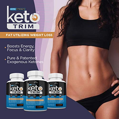 Keto Trim Pills - Fat Utlizing Weight Loss - Limitless Labs - 1100MG - 180 Capsules - 90 Day Supply 3