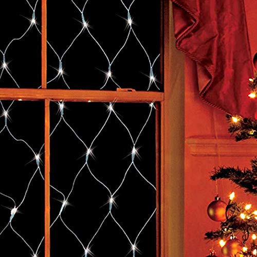 ZHJIUXING CC LED Net Light Garden Net Fairy Tale, Curtain Light Backyard Balcony Starry Sky christmas window lights 1.5 * 1.5m, 1.5 * 1.5m