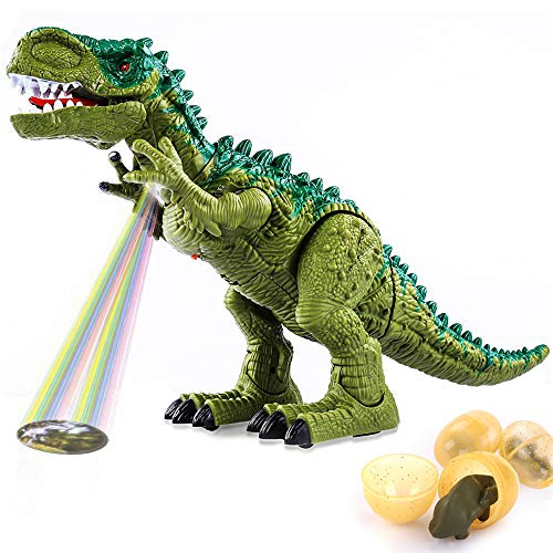 Temi Electronic Walking Dinosaur Toy, with Sounds/Projection/Laying Eggs (Large)