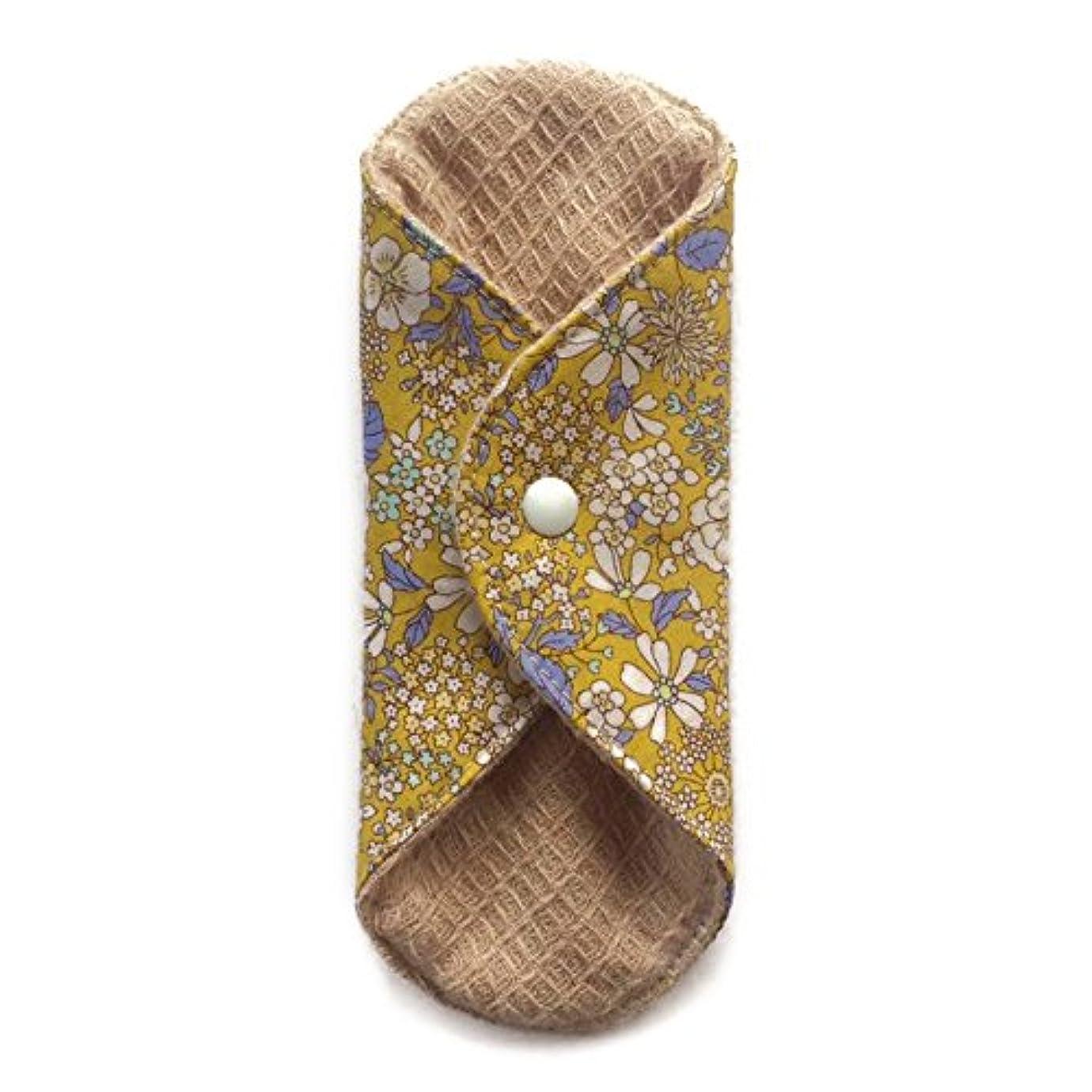 メタルライン刃周り華布のオーガニックコットンの極み あたため布 Sサイズ (約13×約13×約0.6cm) 雅(マスタード)