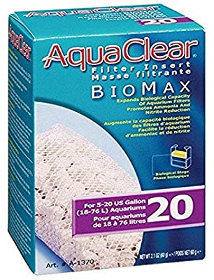 Aquaclear A1370A1 20-Gallon Biomax,White