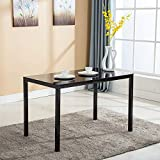 Mecor Dining Table Modern Minimallist Glass Kitchen Table...