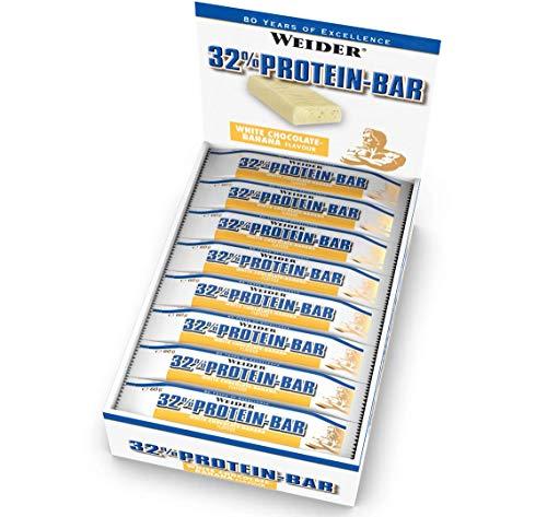 Weider 32% Proteine Bar, Cioccolato bianco-Banana