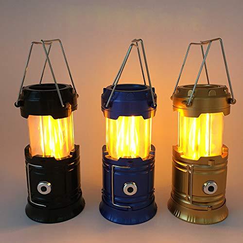 ASNX Pferdelicht LED Camping Laterne Kleine Hängelampe Tragbare Helle Teleskop Gartenlaterne USB Lampe Taschenlamp Eingebaute Wiederaufladbare, Zeltlicht Beleuchtung Teleskop Camping Licht,Blau