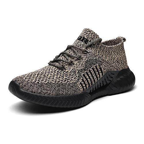 tqgold® Sportschuhe Herren Damen Laufschuhe Sneakers Turnschuhe Gym Fitness Leicht Schuhe 97Khaki 41