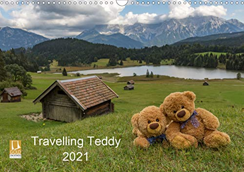 Travelling Teddy 2021 (Wandkalender 2021 DIN A3 quer)