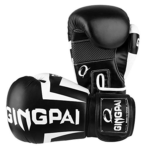 GINGPAI Boxing Gloves for Men Women Kids,UFC Training Gloves for Kickboxing, Muay Thai, MMA,Pro Style Fight Gloves,Sparring EGO Gloves for Punch Bag, Focus Pads, Thai Pad