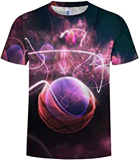 YLing Men's Summer New Full 3D Printed T Shirt Cool Printing Short Sleeve Top Blouse
