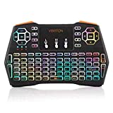 JINYANG Helpful VIBOTON i8 Plus Mini 2.4GHz Wireless 5-Color Backlight Keyboard with Touchpad Mouse