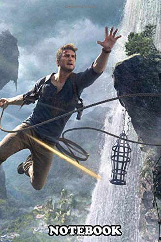 """Notebook: Nathan Drake In Action , Journal for Writing, College Ruled Size 6"""" x 9"""", 110 Pages"""