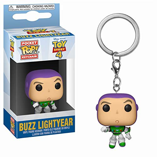Funko- Pixar Llavero Pocket, Color Purple, Green (37418)