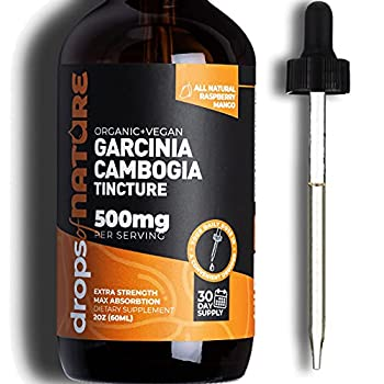 Garcinia Cambogia Extract Liquid Supplement 2 fl oz Natural HCA Carb Blocker Raspberry Mango