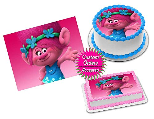 Poppy Trolls Edible Image Icing Frosting Sheet #23 Cake Cupcake Cookie Topper Sugar Sheet (6