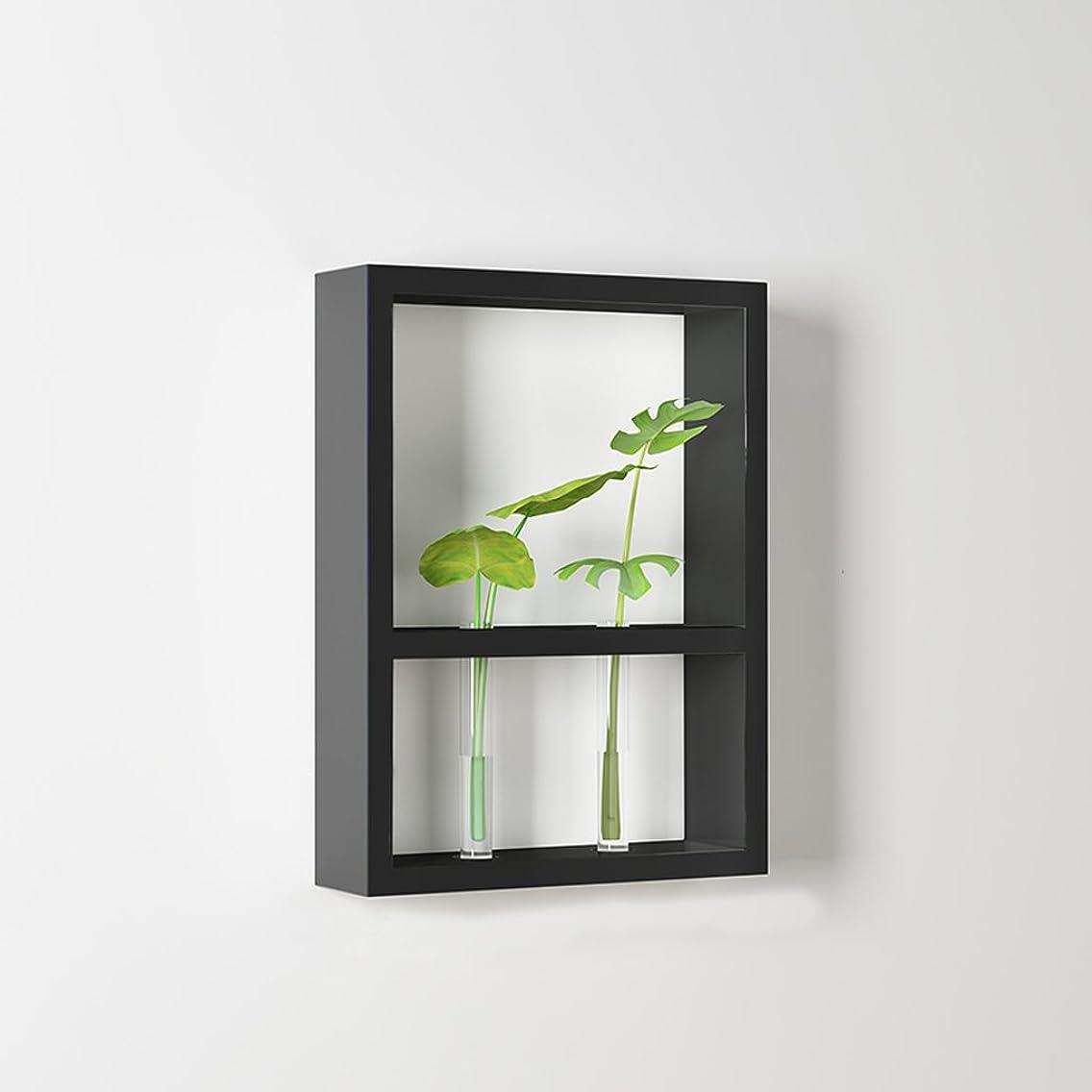 インストラクターベッツィトロットウッド有毒JTWJ 吊るす花ラック壁の棚リビングルームの寝室の壁装飾フレームバルコニーの壁緑の植物の植物の鍋ラック (色 : ブラック)