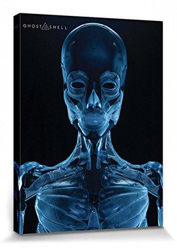 1art1 Ghost In The Shell - Skeleton Cuadro, Lienzo Montado sobre Bastidor (80 x 60cm)