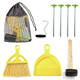 Gigatent 9-Piece Camping Stake Set - Complete Lightweight Tent Setup with Portable Bag - Essential Gear for Outdoor & Hiking