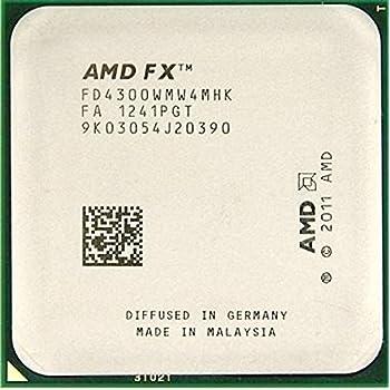 Amazon Com Amd Fx 4300 Fd4300wmw4mhk Vishera Quad Core 3 8ghz 4 0ghz Desktop Cpu Processor Socket Am3 95w 938 Pin Computers Accessories