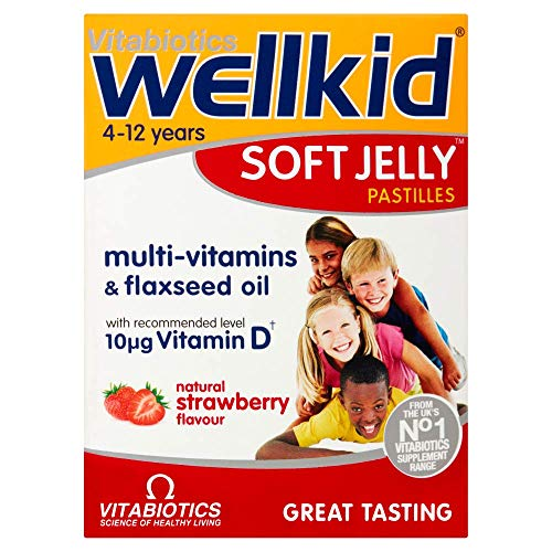 Vitabiotics Wellkid Soft Jelly Strawberry - 30 Pastilles