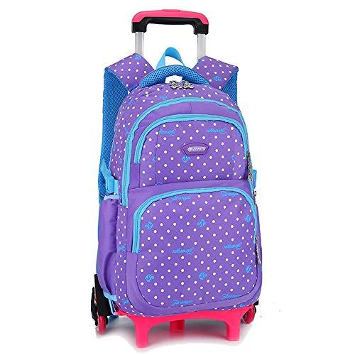 LYZL Trolley Bolsa Escuela Primaria niñas Seis Rondas 2-3-6 Grado niños de...