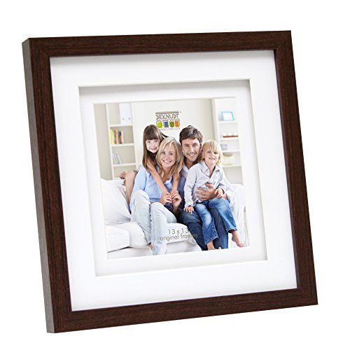 Deknudt Frames S65KQ1-10.0X15.0 fotolijst, voor 3 foto's, dubbele passe-partout, hout, bruin