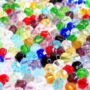 Perline in cristallo di vetro bicone, A2619, confezione da 100pezzi, 6mm, perline miste